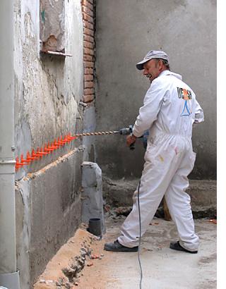 desecacin de muros con drykit